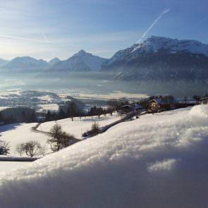 Panoramaaussicht Winter